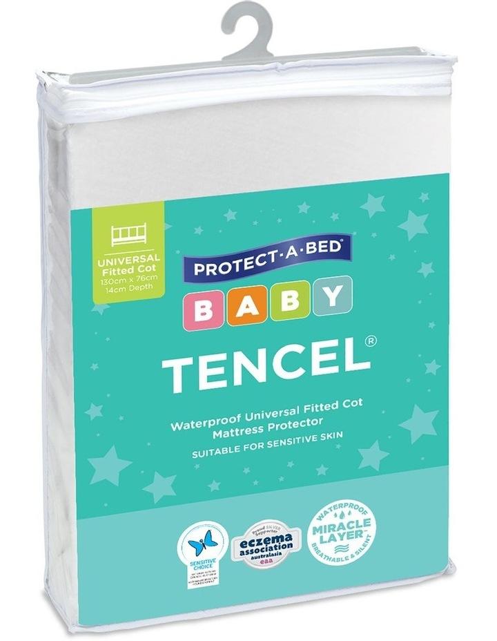 Kids TENCEL Jersey Waterproof Fitted Mattress Protector image 1