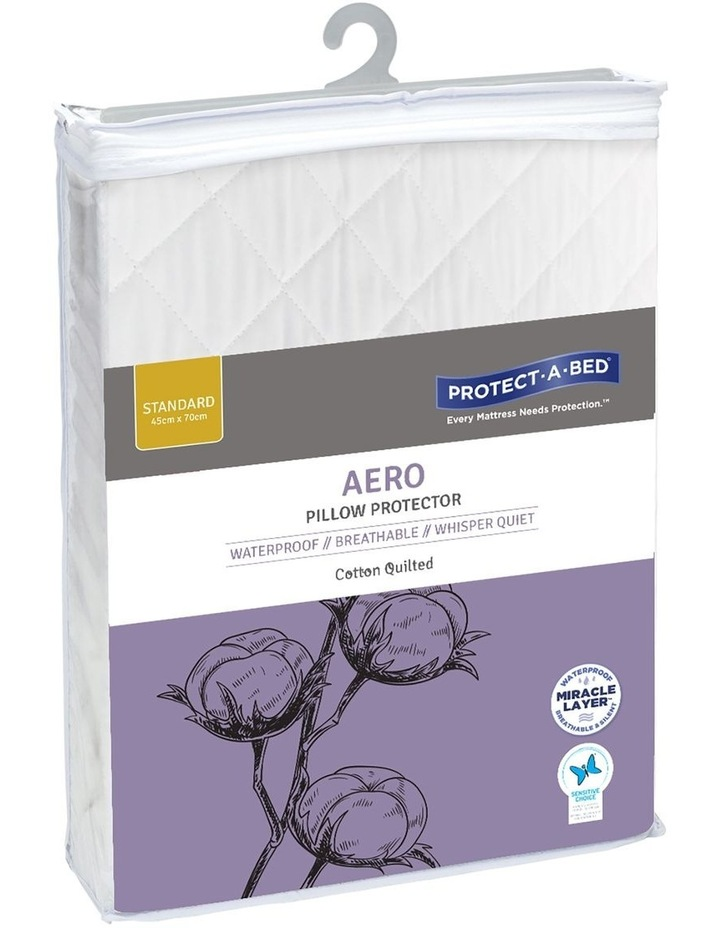 Protect-A-Bed Aero Cotton Quilted Waterproof Pillow Protector image 1