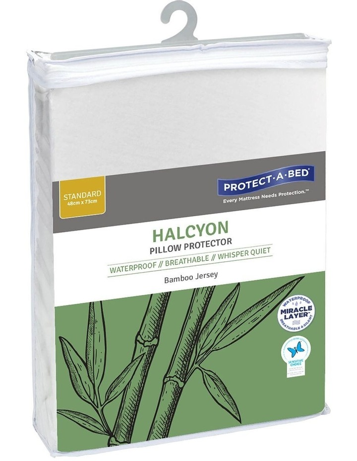Halycon Bamboo Jersey Waterproof Fitted Pillow Protector image 1