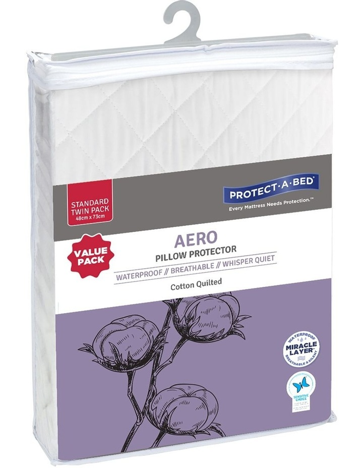 Protect-A-Bed Aero Cotton Quilted Twin Pack Waterproof Pillow Protector image 1