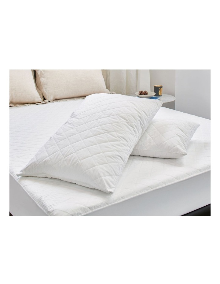 Protect-A-Bed Aero Cotton Quilted Twin Pack Waterproof Pillow Protector image 2
