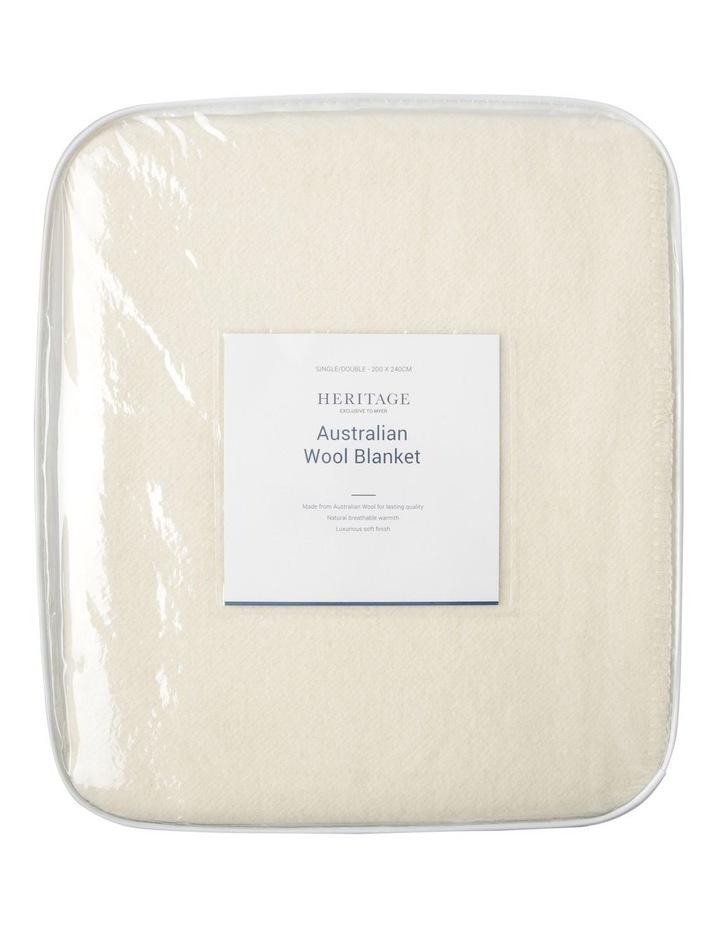 Australian Wool Blanket in Natural image 1