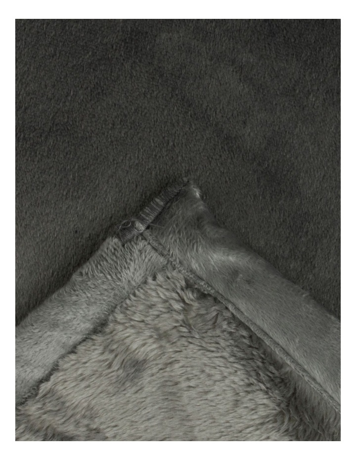Faux Mink Blanket in Charcoal image 4