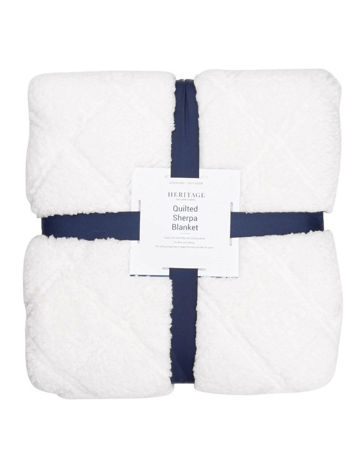 Quilted Sherpa Blanket image 1