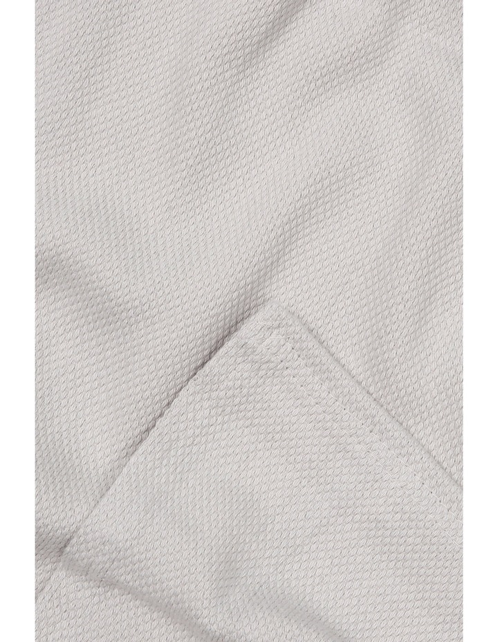 Cotton Blanket In Dove Grey image 3