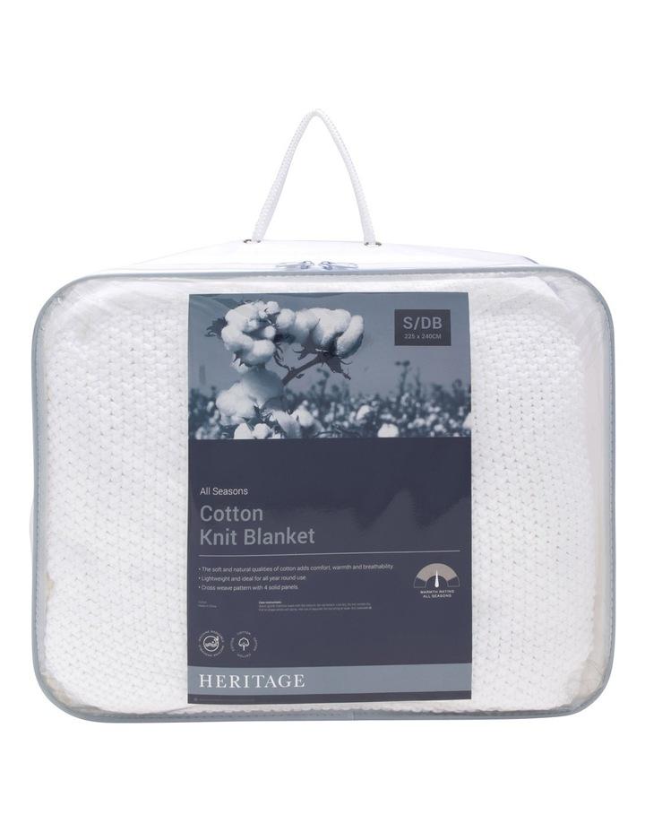 Cotton Knit Blanket White image 1