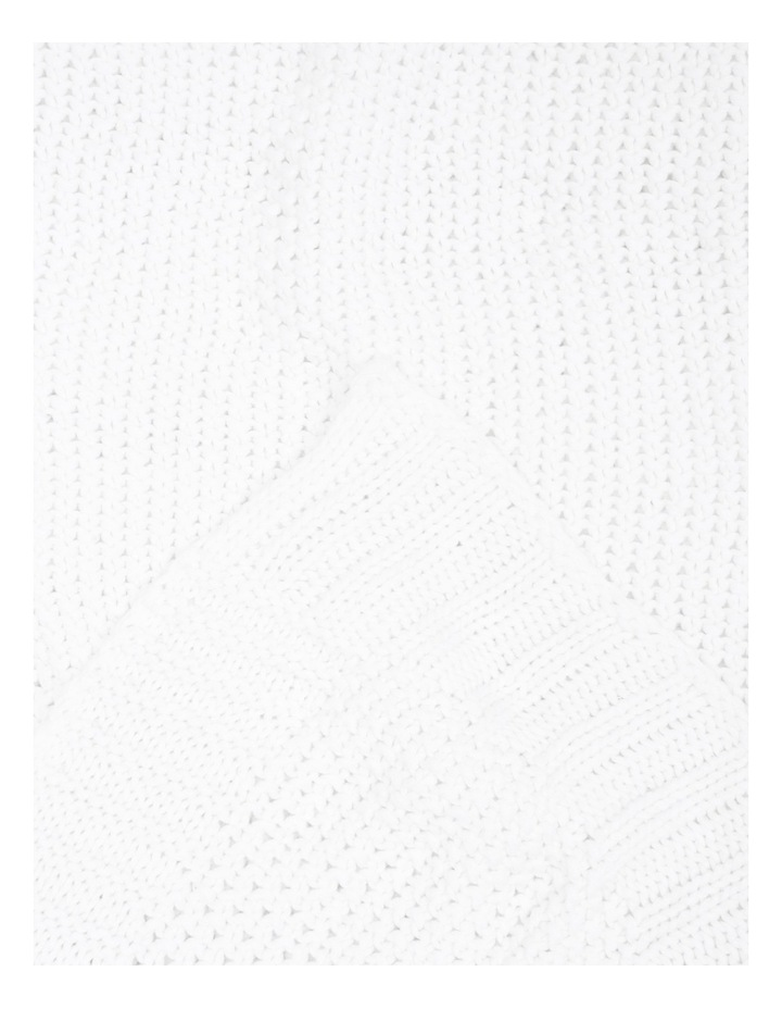 Cotton Knit Blanket White image 3