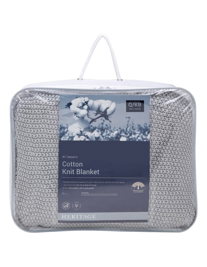 Cotton Knit Blanket Silver image 1