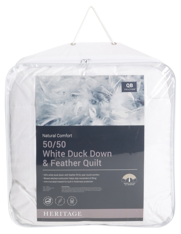 50/50 White Duck Down & Feather Quilt image 1