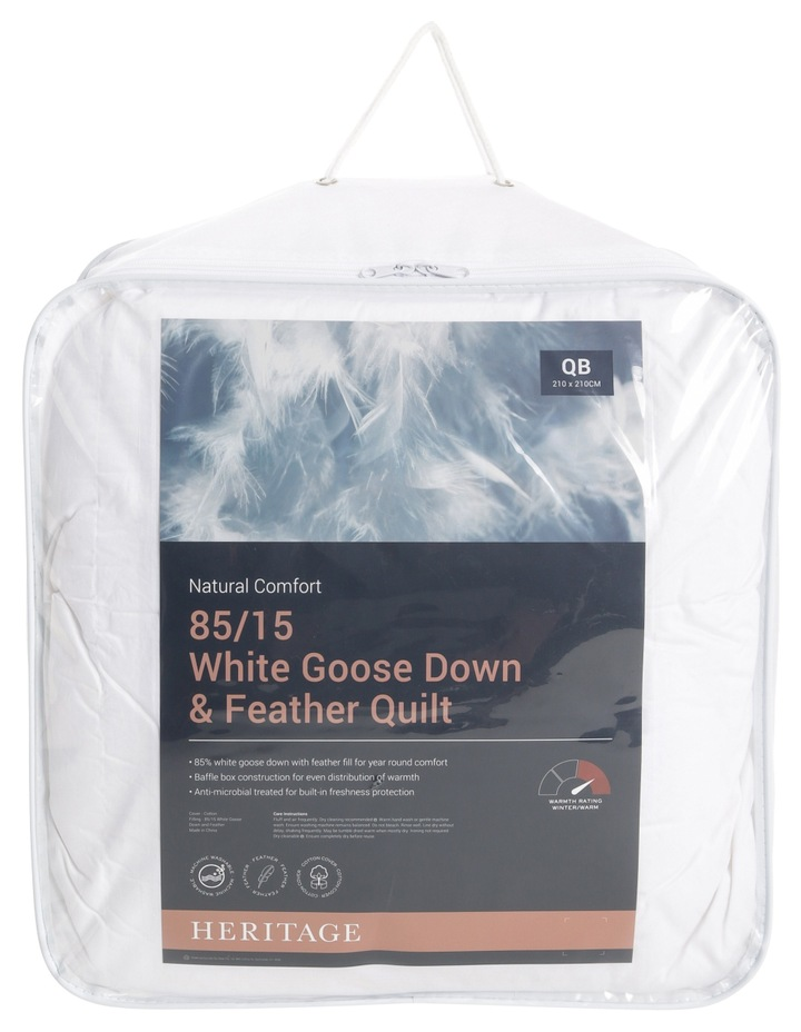 85/15 White Goose Down & Feather Quilt image 1