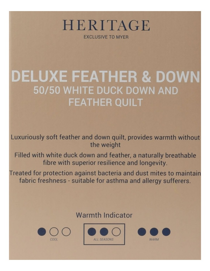 50/50 White Duck Down & Feather Quilt image 5
