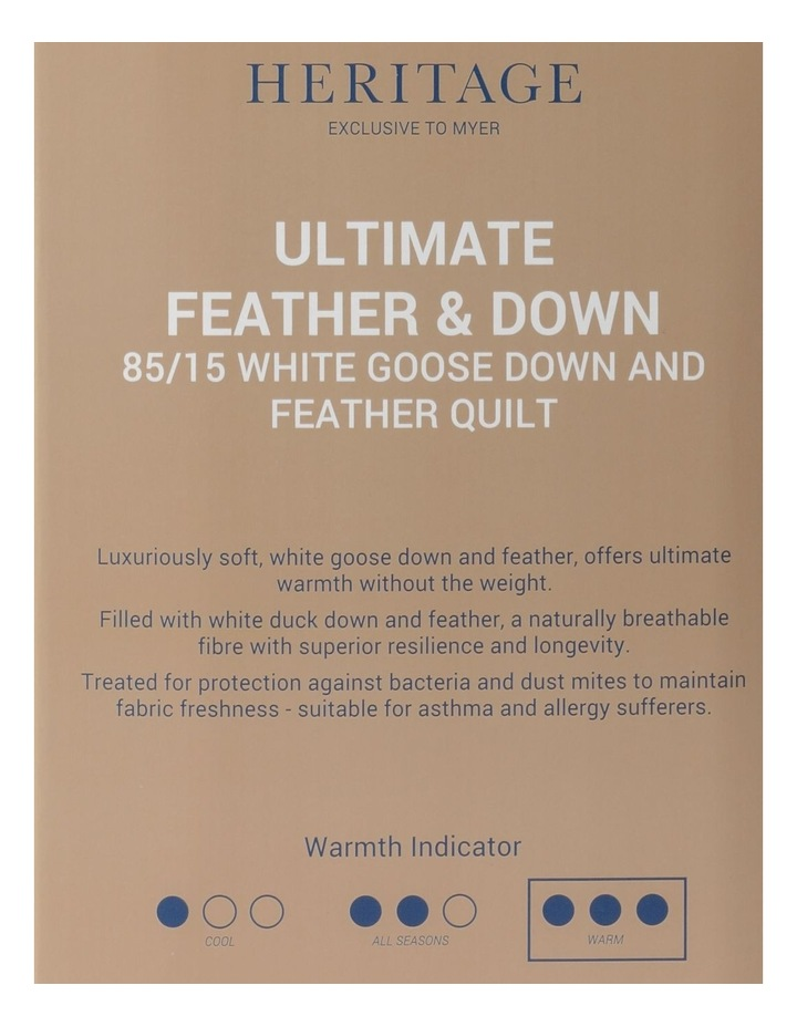 85/15 White Goose Down & Feather Quilt image 5