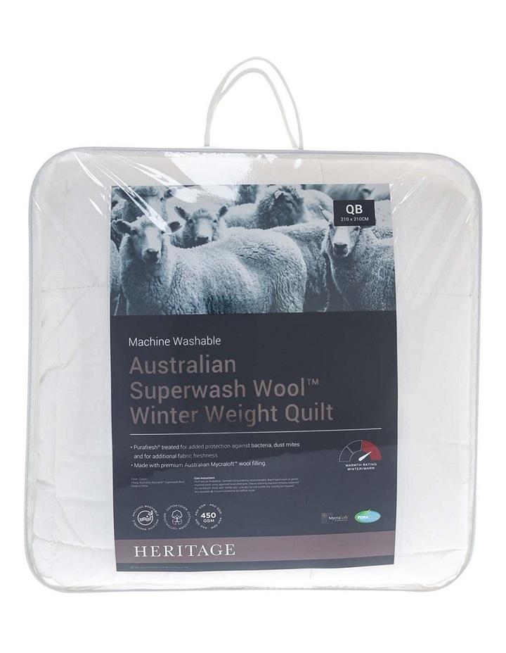 Australian Superwash Wool Winter Weight Quilt image 1