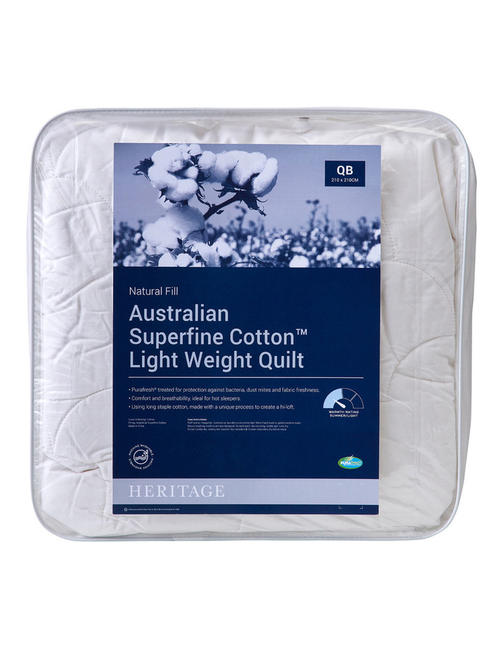 Australian Superfine Cotton Light Weight Quilt Range image 1