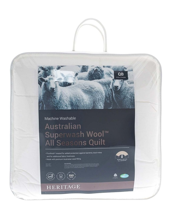 Australian Superwash Wool All Seasons Quilt image 1