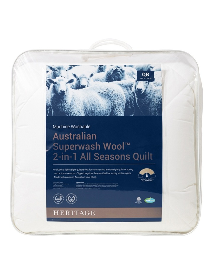 Australian Superwash Wool 2 in 1 Quilt image 1