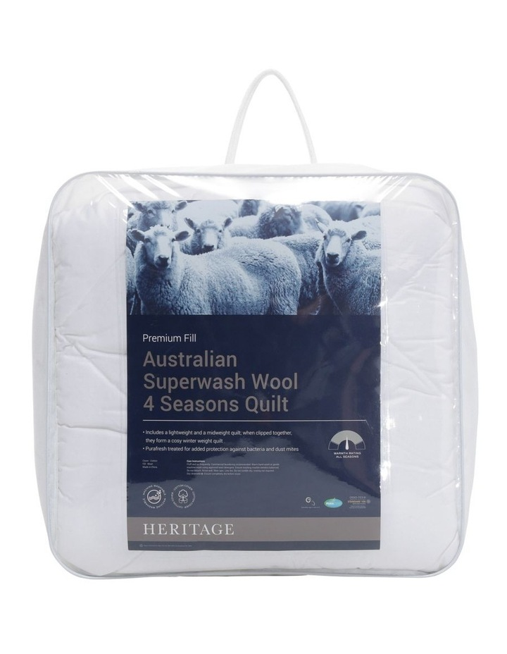 Australian Super Wash Wool 4 Seasons Quilt image 1