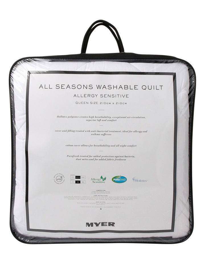 All Seasons Allergy Sensitive Washable Quilt image 1