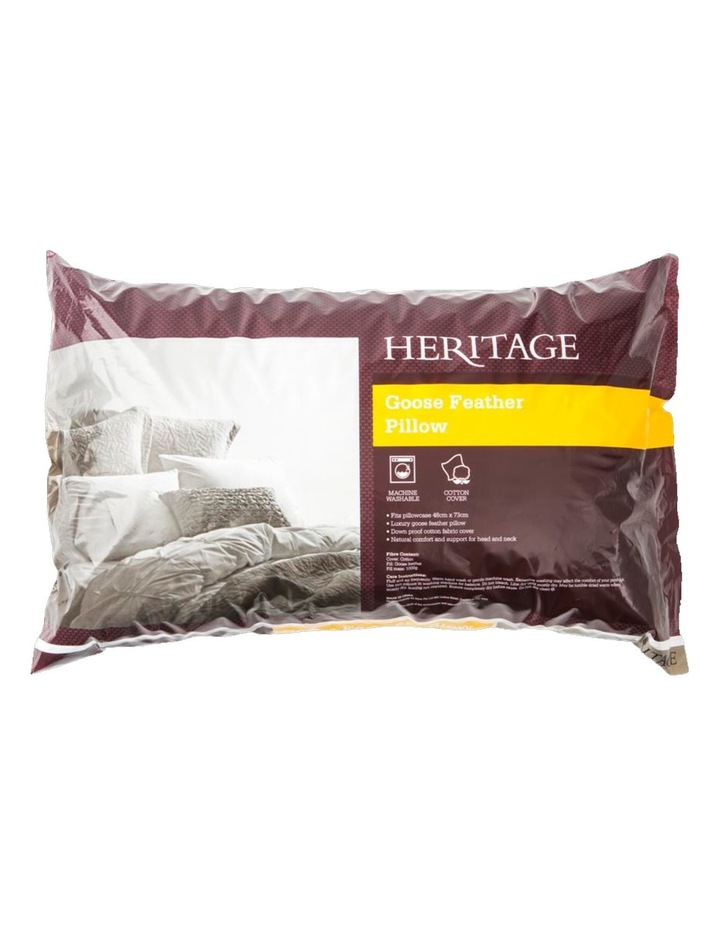 White Goose Feather Pillow - Standard image 1