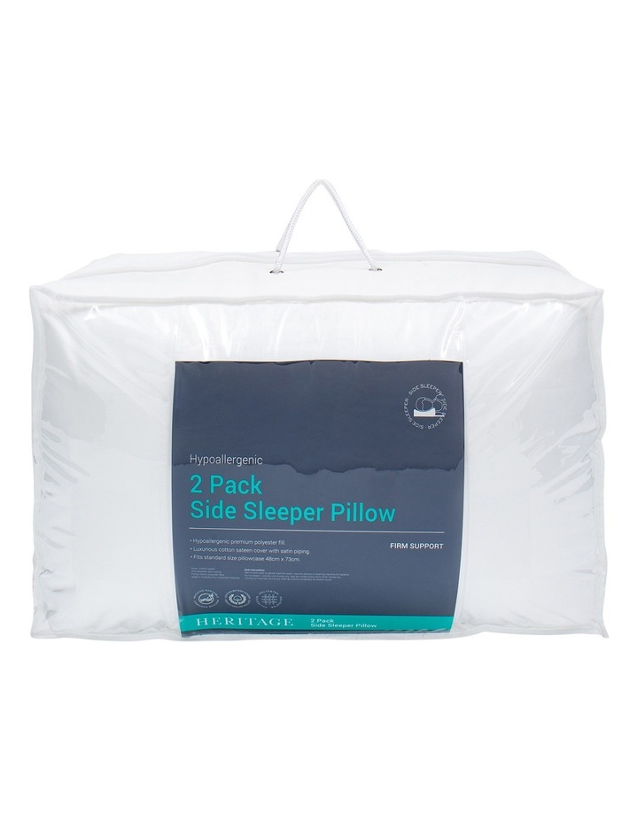 Side Sleeper Polyester Pillow 2 Pack image 1