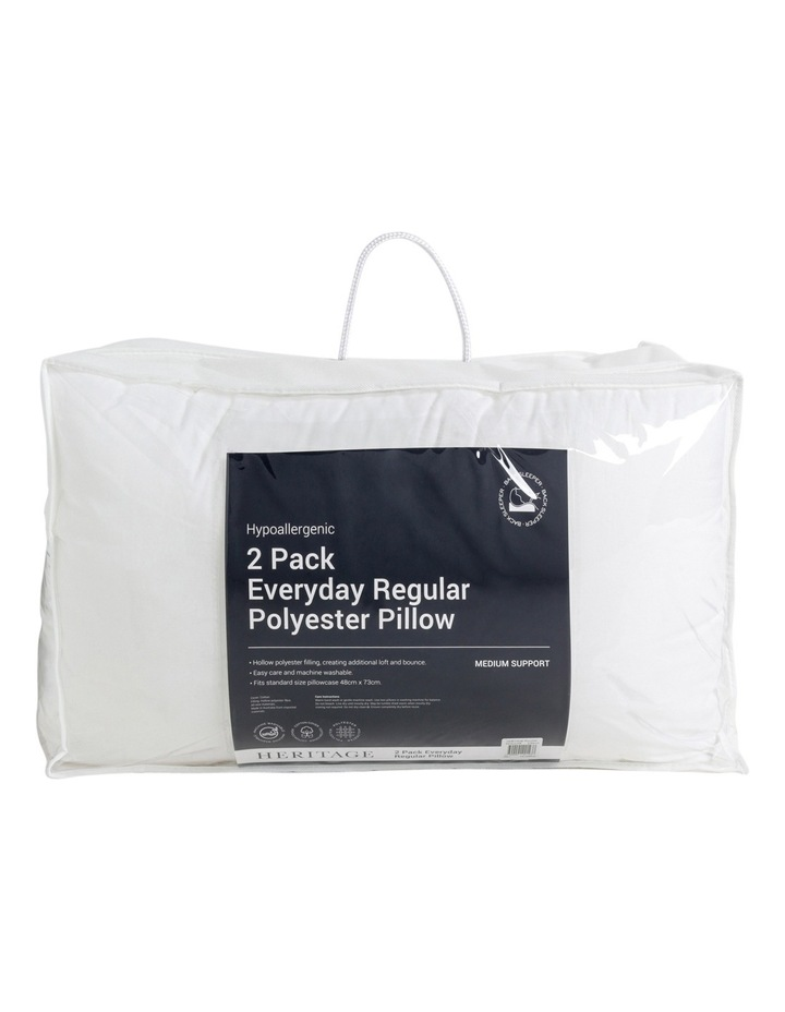 Everyday Regular Polyester Pillow 2 Pack image 1