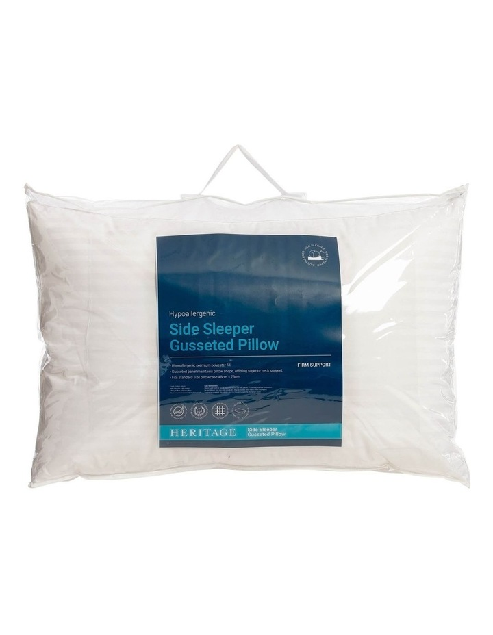Side Sleeper Polyester Gusseted Pillow image 1