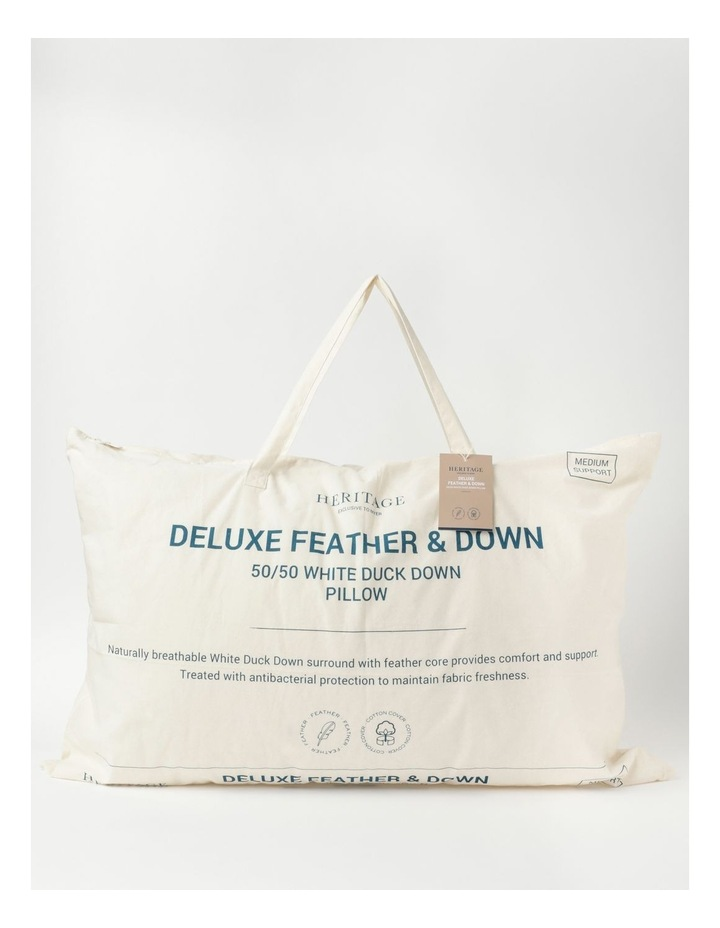 50/50 White Duck Down and Feather Pillow image 1