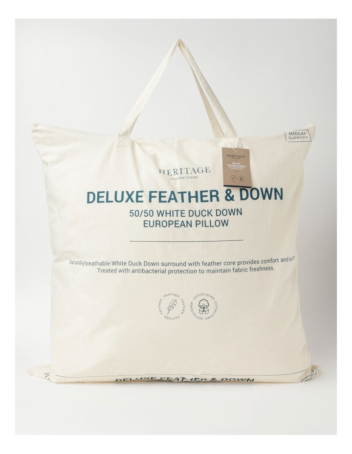 White Duck Down & Feather European Pillow image 1