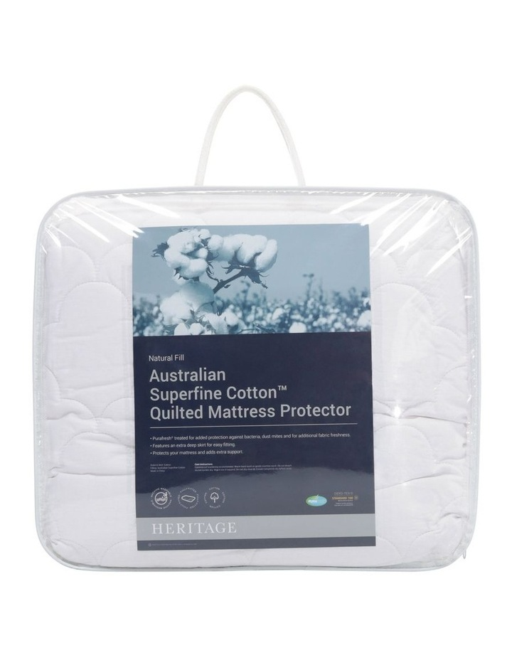 Australian Superfine Cotton Quilted Mattress Protector image 1