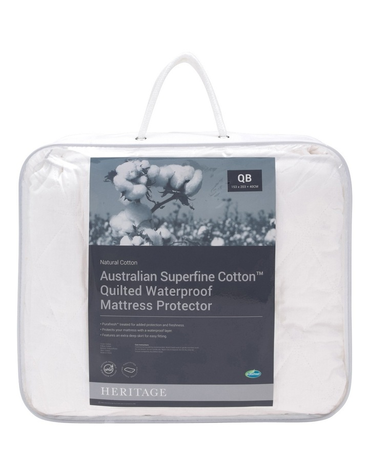 Australian Superfine Cotton Quilted Waterproof Mattress Protector image 1