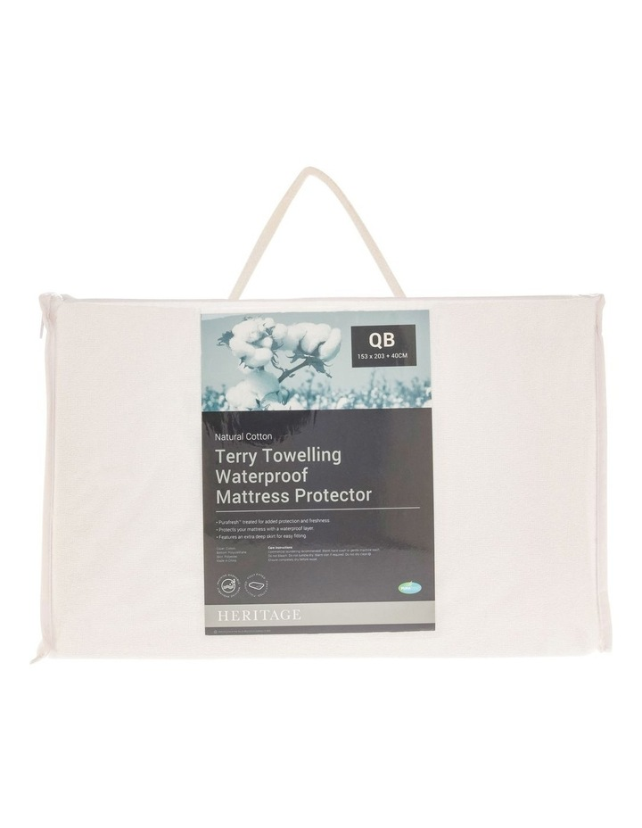 Terry Towelling Waterproof Mattress Protector image 1