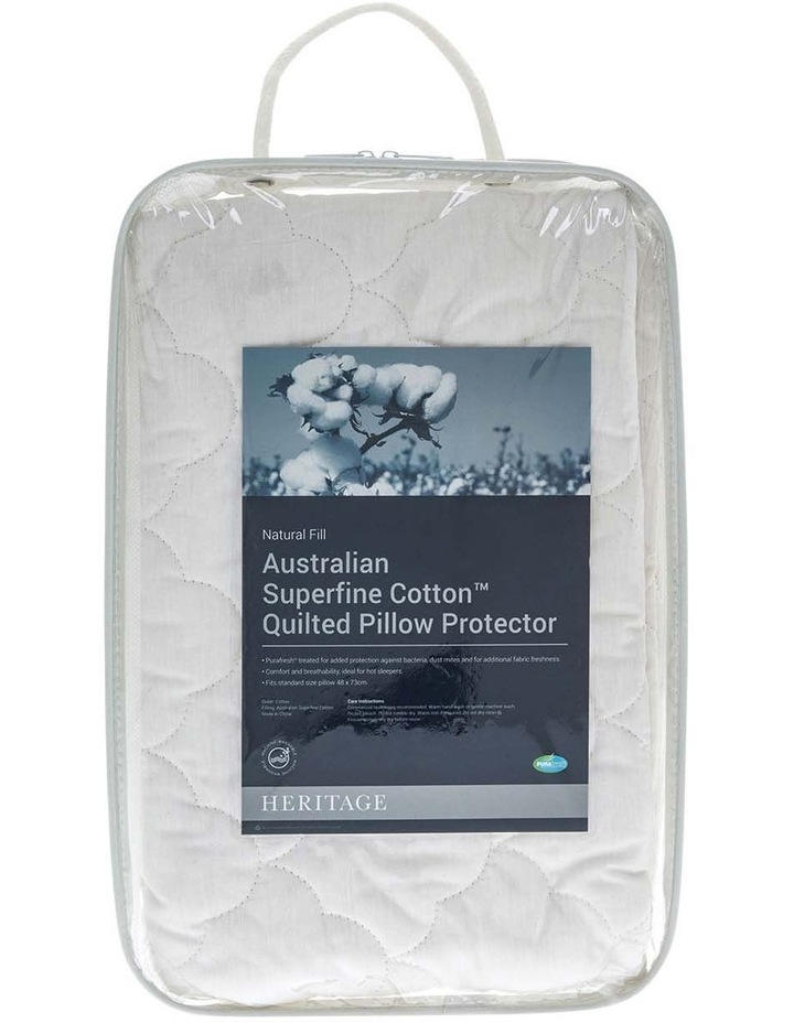 Australian Superfine Cotton Quilted Pillow Protector image 3