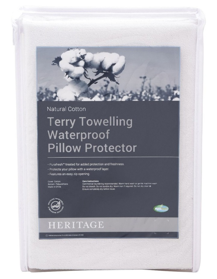 Terry Towelling Waterproof Pillow Protector image 1
