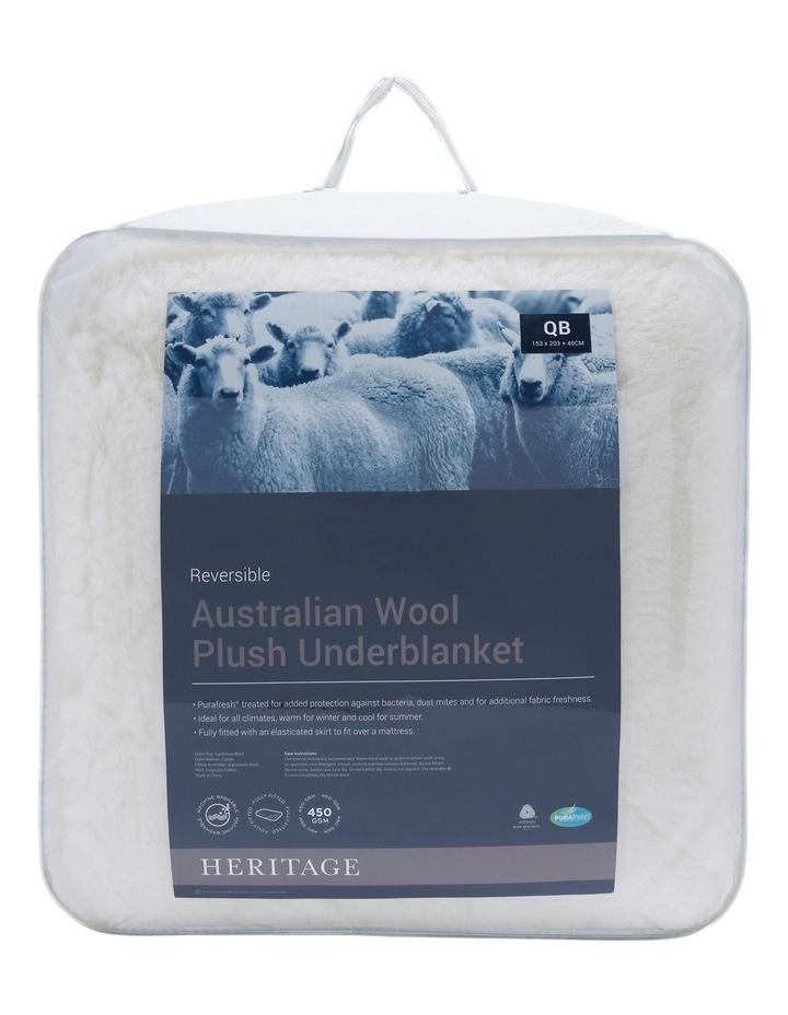 Plush Australian Wool Reversible Underblanket image 1