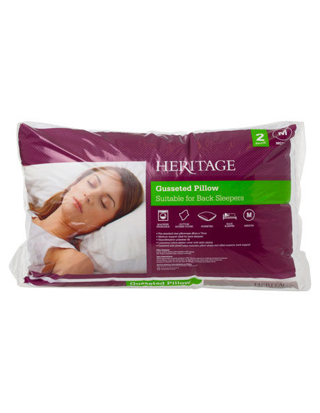 Standard Gusseted Polyester Pillow 2Pk image 1