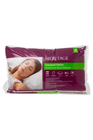 Heritage - Standard Gusseted Polyester Pillow 2Pk