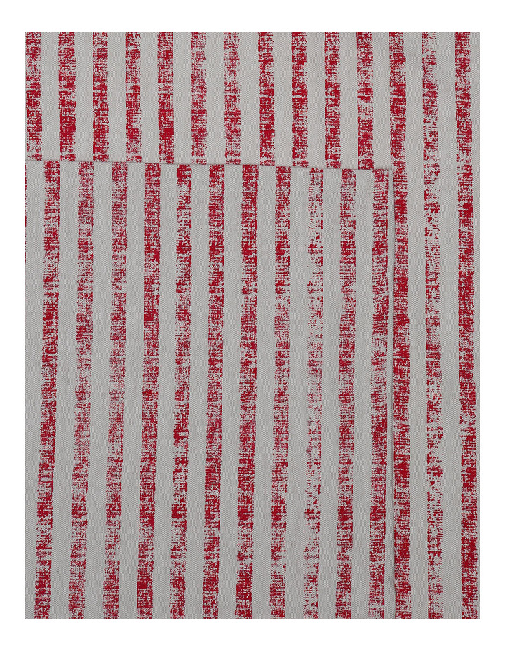 Painted Stripe Red Tablecloth image 1