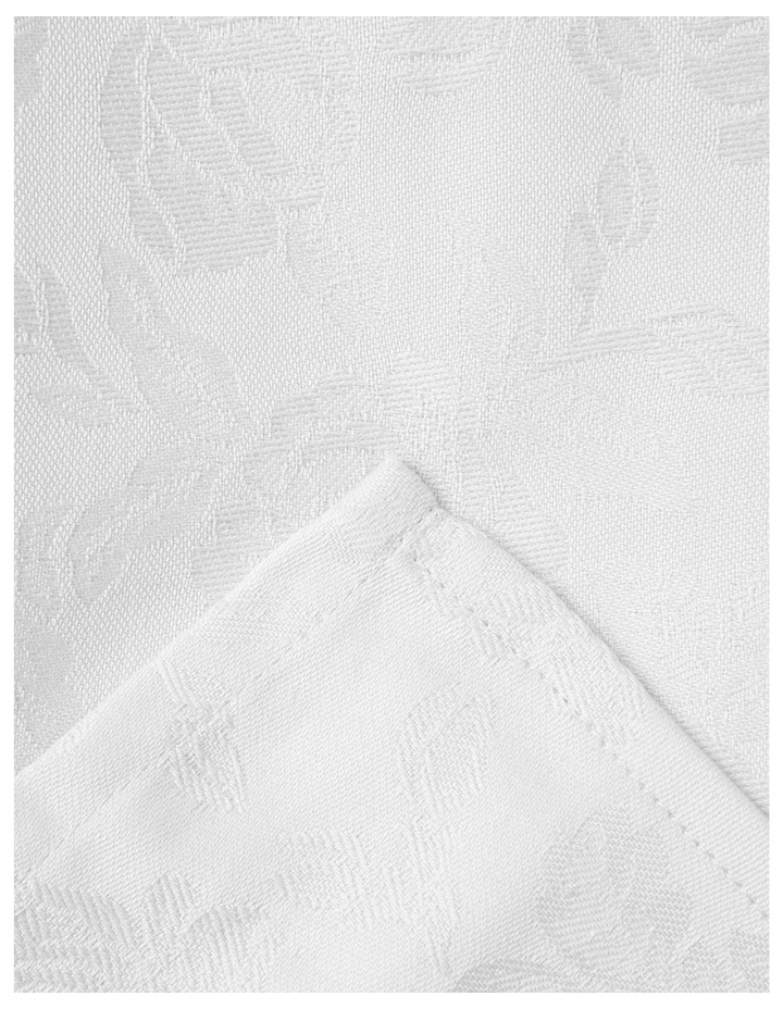 Rose Jacquard Tablecloth 220x150cm White image 1