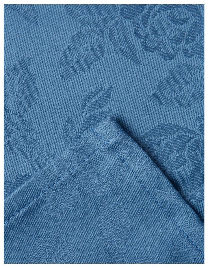 Rose Jacquard Tablecloth 220x150cm Coronet Blue image 1