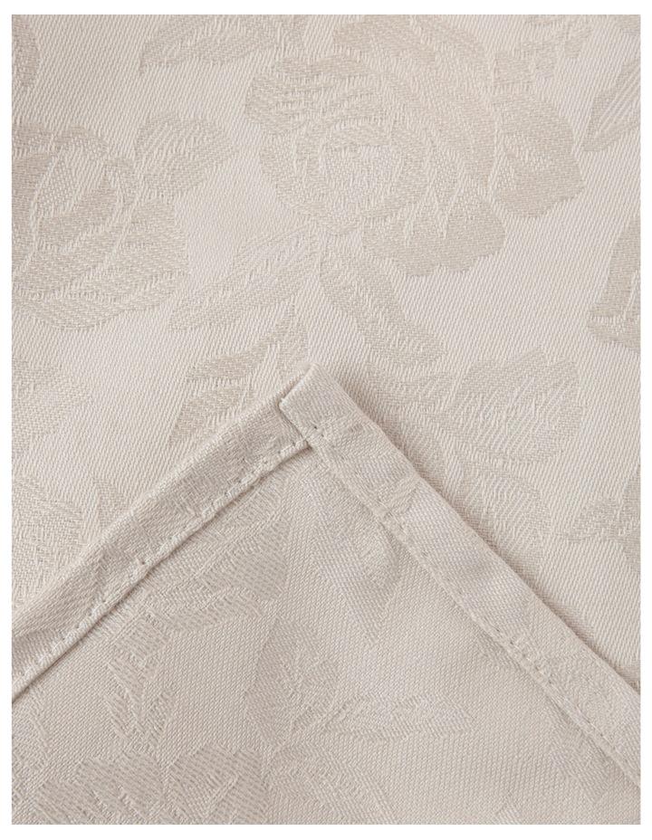 Rose Jacquard Tablecloth 220x150cm Pumice Stone image 1