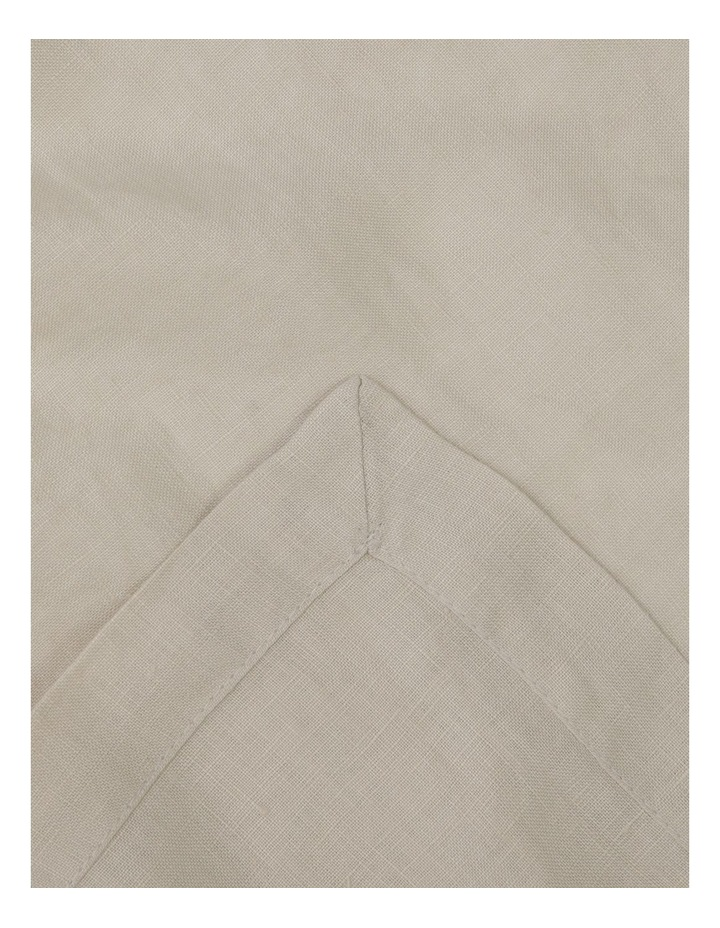 Sandycape Pure Linen Tablecloth Moon Beam image 1