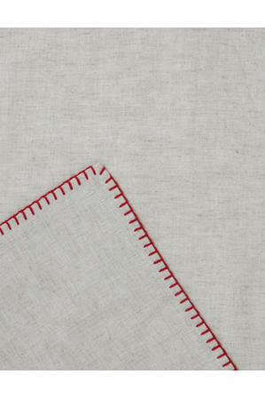 Australian House & Garden - Blanket Stitch Red Tablecloth 160x280