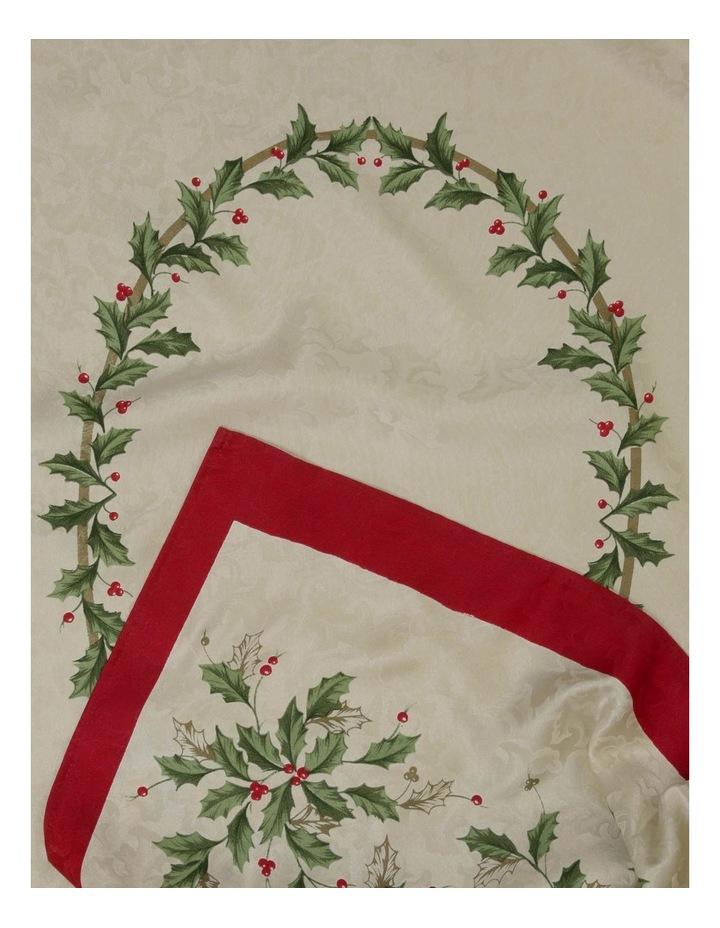 Christmas Holly Tablecloth 150 x 300cm image 1