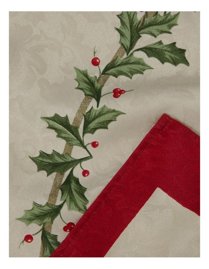 Christmas Holly Tablecloth 150 x 300cm image 2