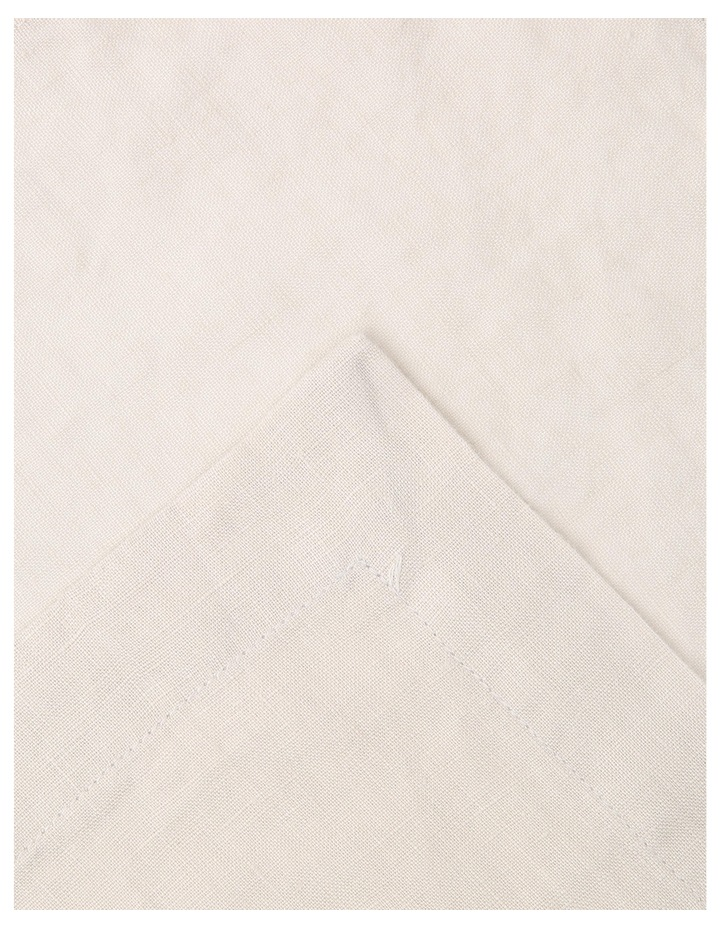 Sandycape Pure Linen Napkin 50x50cm Moon Beam image 2