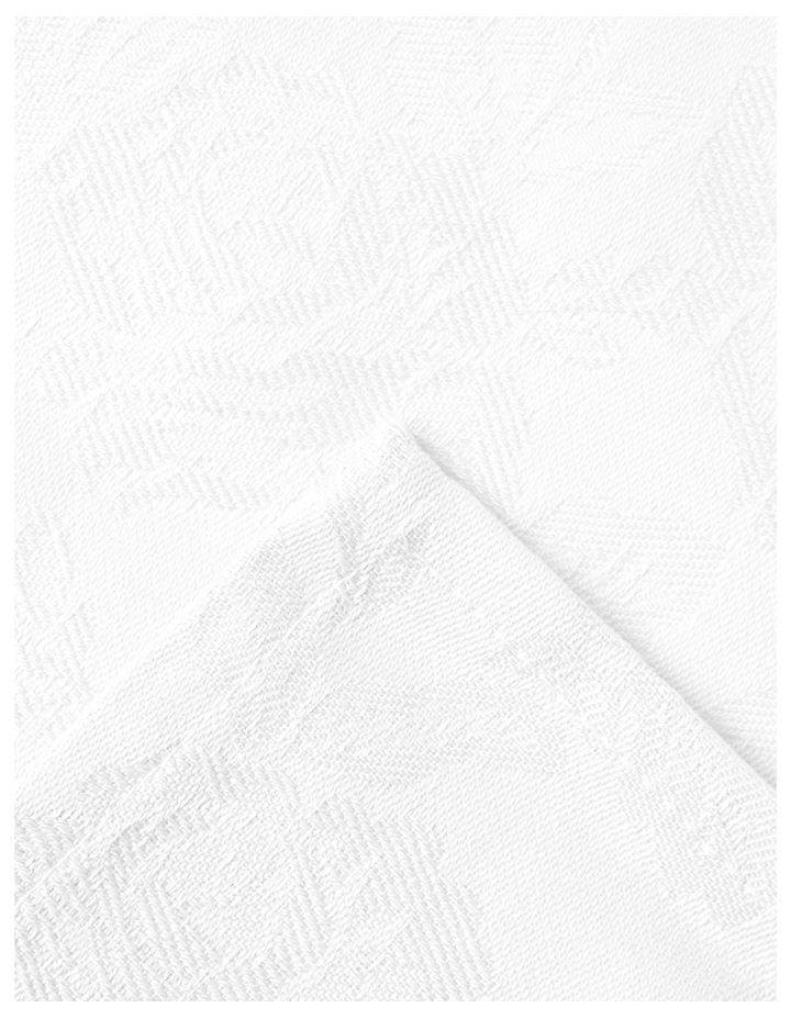 Rose Jacquard Napkin Set of 4 50x50cm White image 2