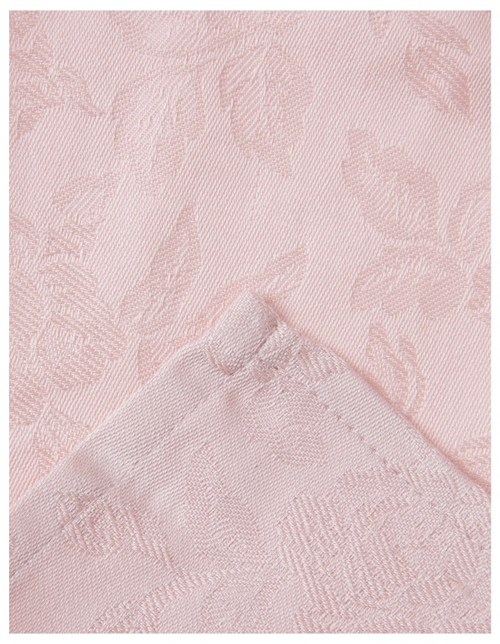 Rose Jacquard Napkin Set Of 4 50x50cm Rose Smoke image 2