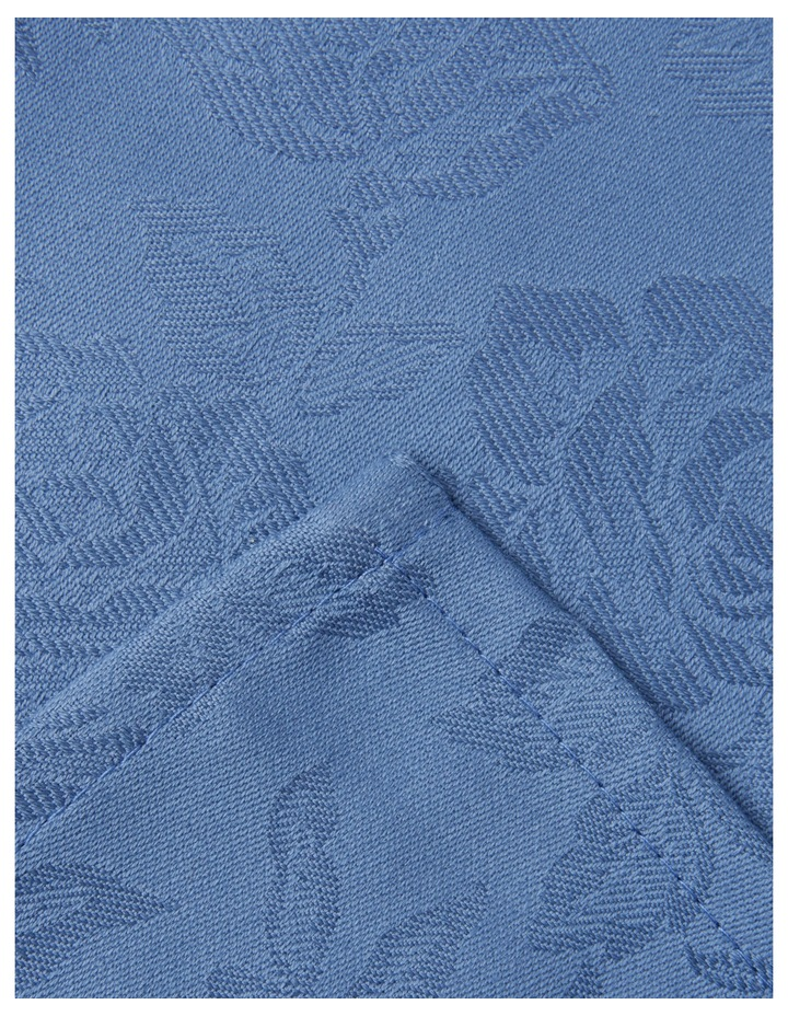 Rose Jacquard Napkin Set Of 4 50x50cm Coronet Blue image 2