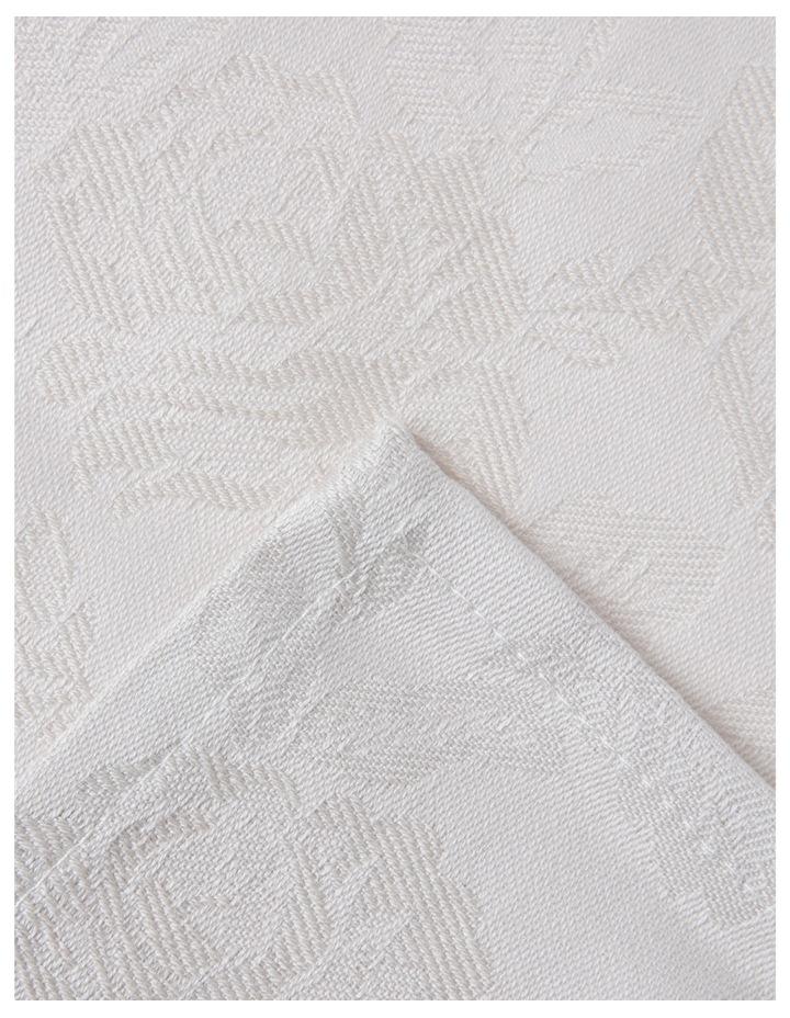 Rose Jacquard Napkin Set Of 4 50x50cm Pumice Stone image 2