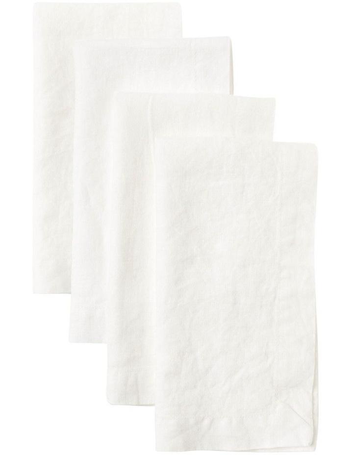 Sandycape Pure Linen Napkin - White image 1